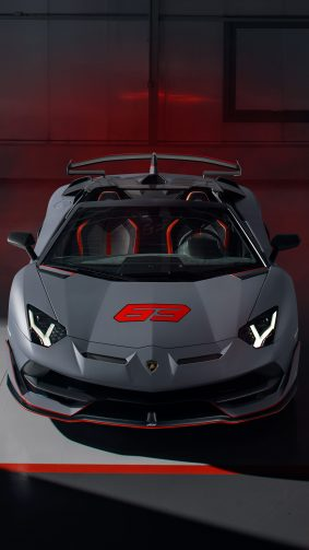 Lamborghini Aventador SVJ 63 Roadster 2020 4K Ultra HD Mobile Wallpaper