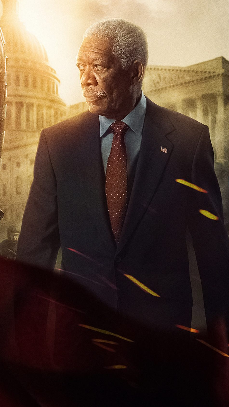 Morgan Freeman In Angel Has Fallen 2019 4K Ultra HD Mobile Wallpaper