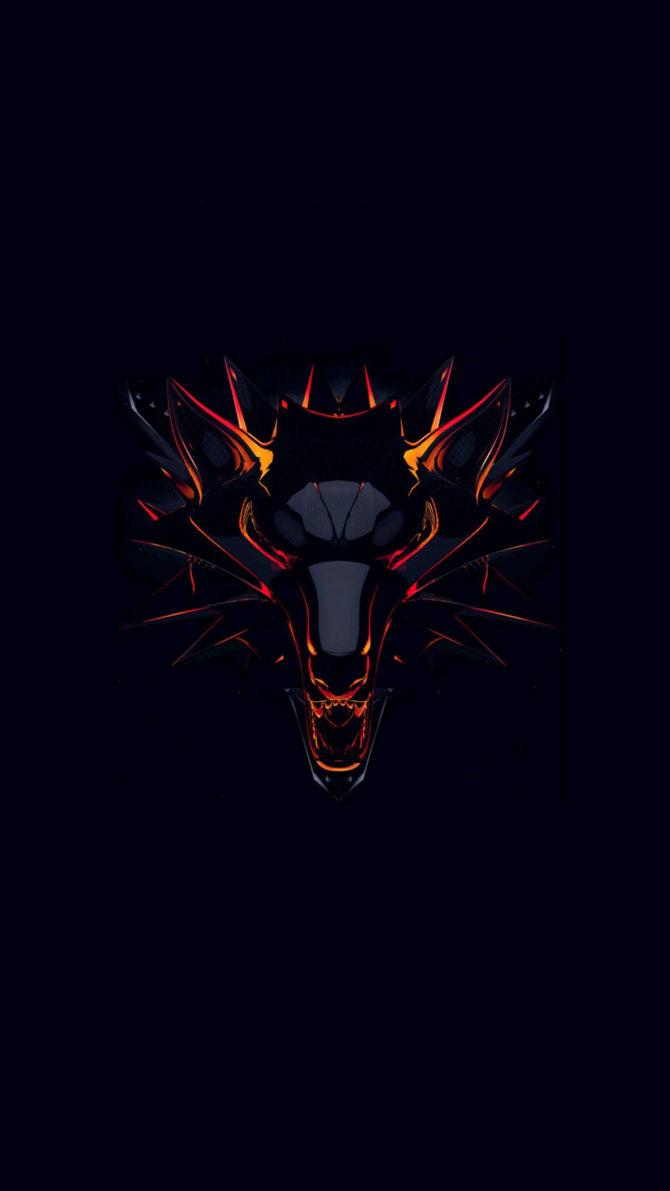 Witcher Dark Background Minimal 4K Ultra HD Mobile Wallpaper