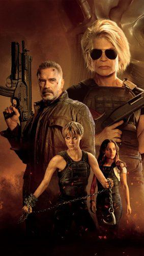 Linda Hamilton & Arnold Schwarzenegger In Terminator Dark Fate 2019 4K Ultra HD Mobile Wallpaper