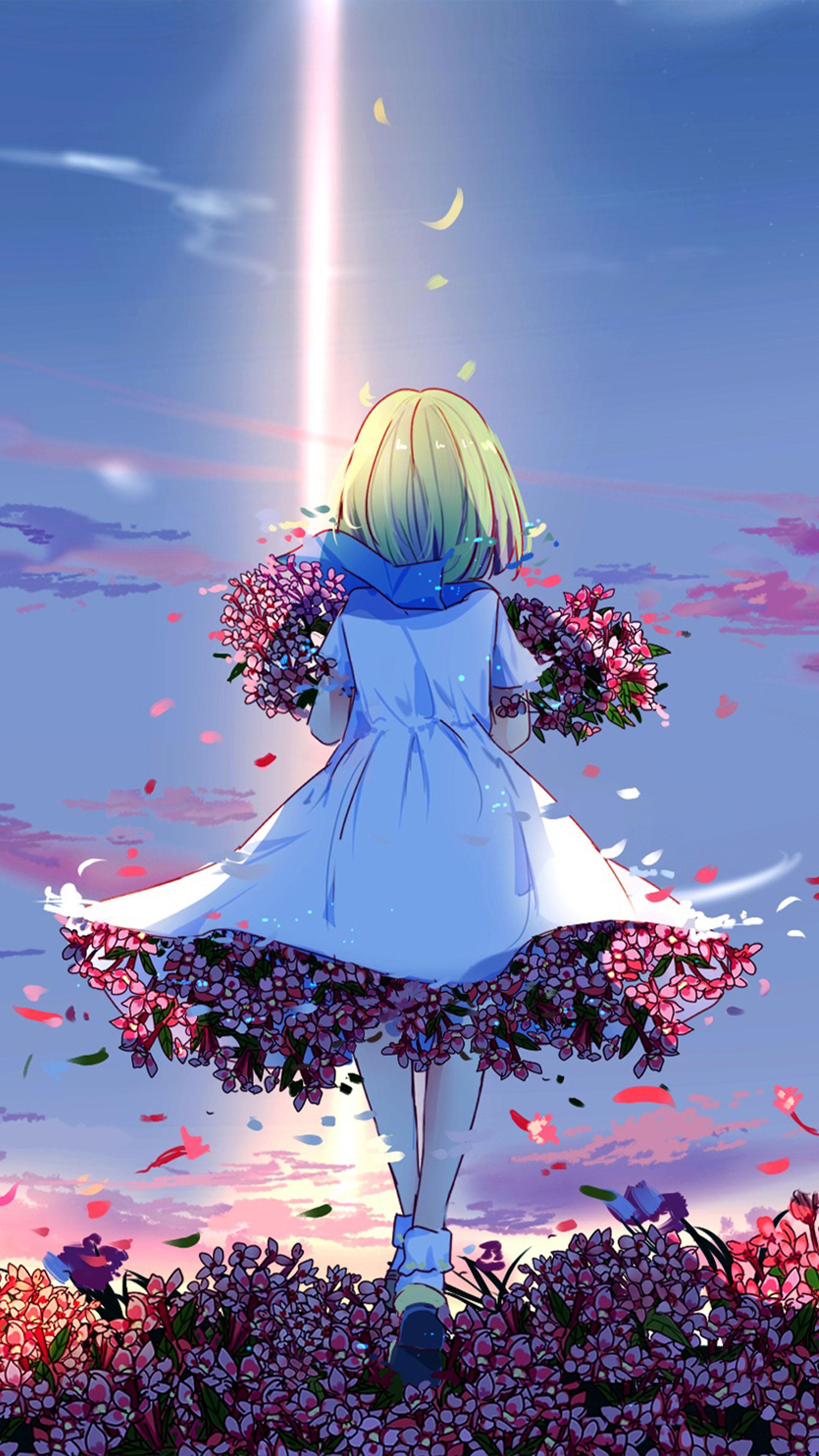 flowers, Lizards, Anime, Girls Wallpapers HD / Desktop and