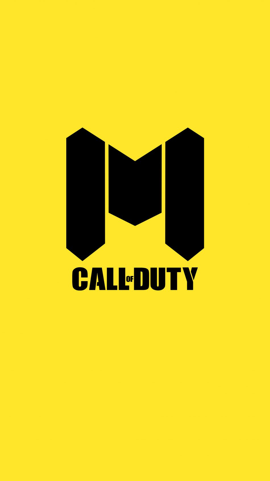 Call Of Duty Mobile Logo Yellow Background 4k Ultra Hd Mobile