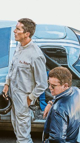 Christian Bale & Matt Damon In Ford v Ferrari 2019 4K Ultra HD Mobile Wallpaper
