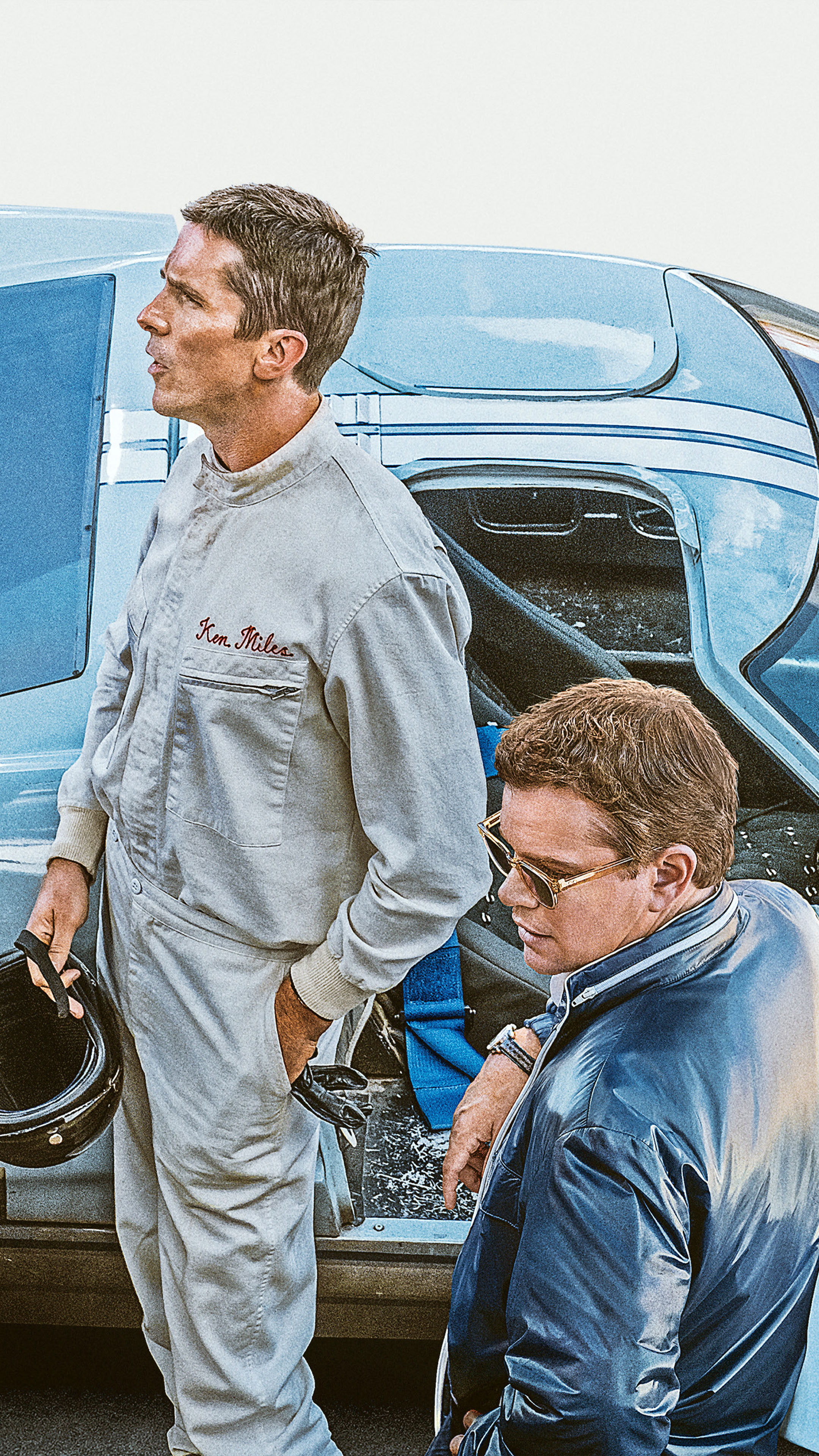 Christian Bale amp Matt Damon In Ford v Ferrari 2019 Free 4K