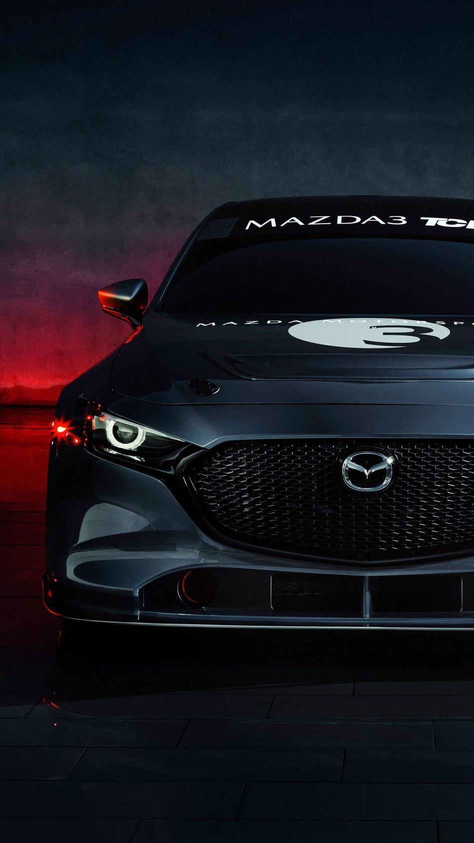 Mazda 3 TCR Race Car 2020 4K Ultra HD Mobile Wallpaper