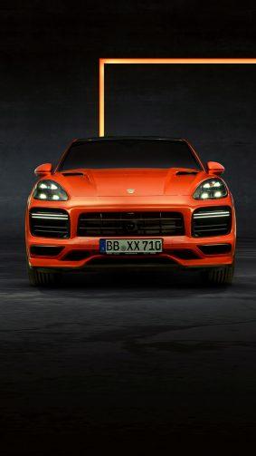 Porsche Cayenne Coupe 2019 Orange 4K Ultra HD Mobile Wallpaper