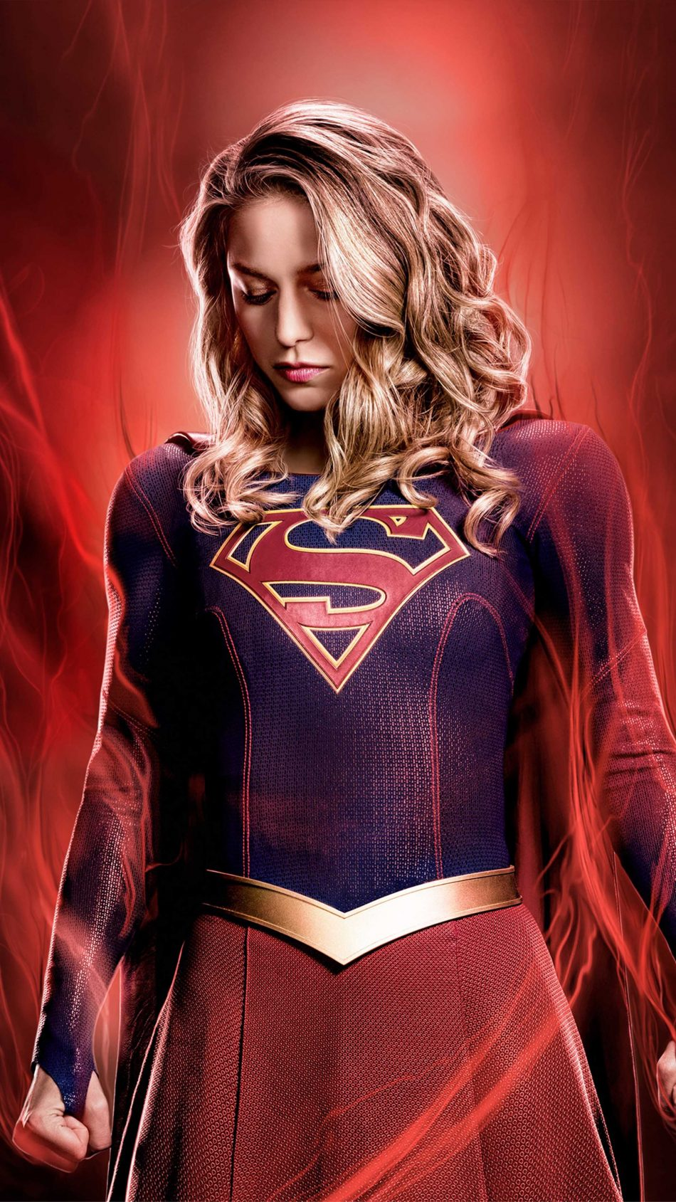 Melissa Benoist As Supergirl 4K Ultra HD Mobile Wallpaper