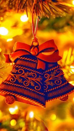 Christmas Eve Bells Decoration 4K Ultra HD Mobile Wallpaper