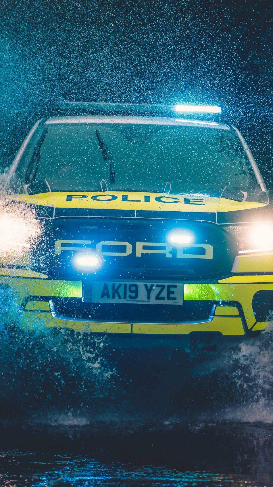 Ford Ranger Raptor Police 2020 4K Ultra HD Mobile Wallpaper
