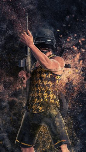 Helmet Guy PUBG Artwork 4K Ultra HD Mobile Wallpaper