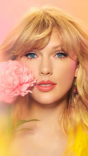 Beautiful Taylor Swift With Flower 4K Ultra HD Mobile Wallpaper