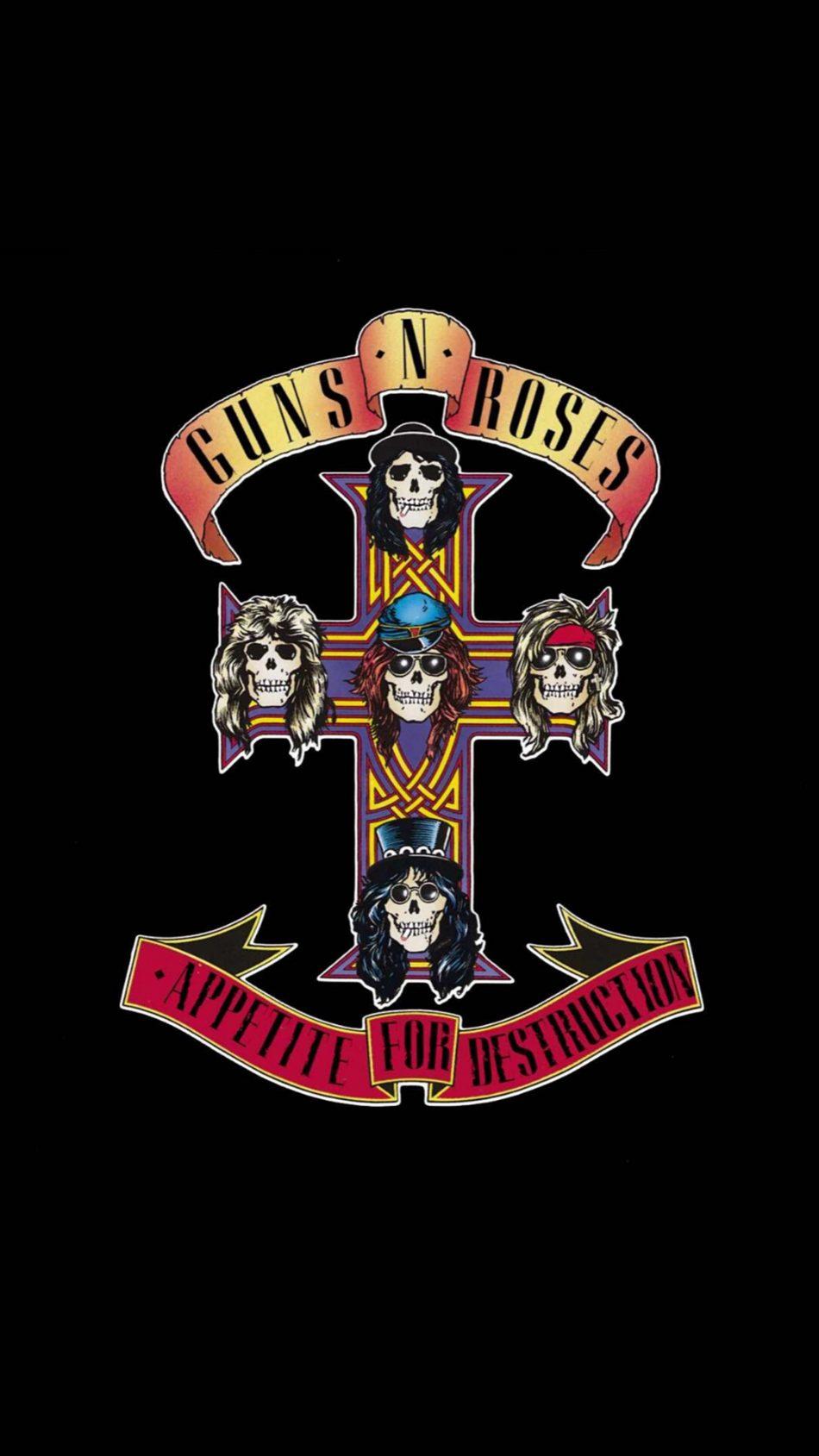 Guns N' Roses Logo 4K Ultra HD Mobile Wallpaper