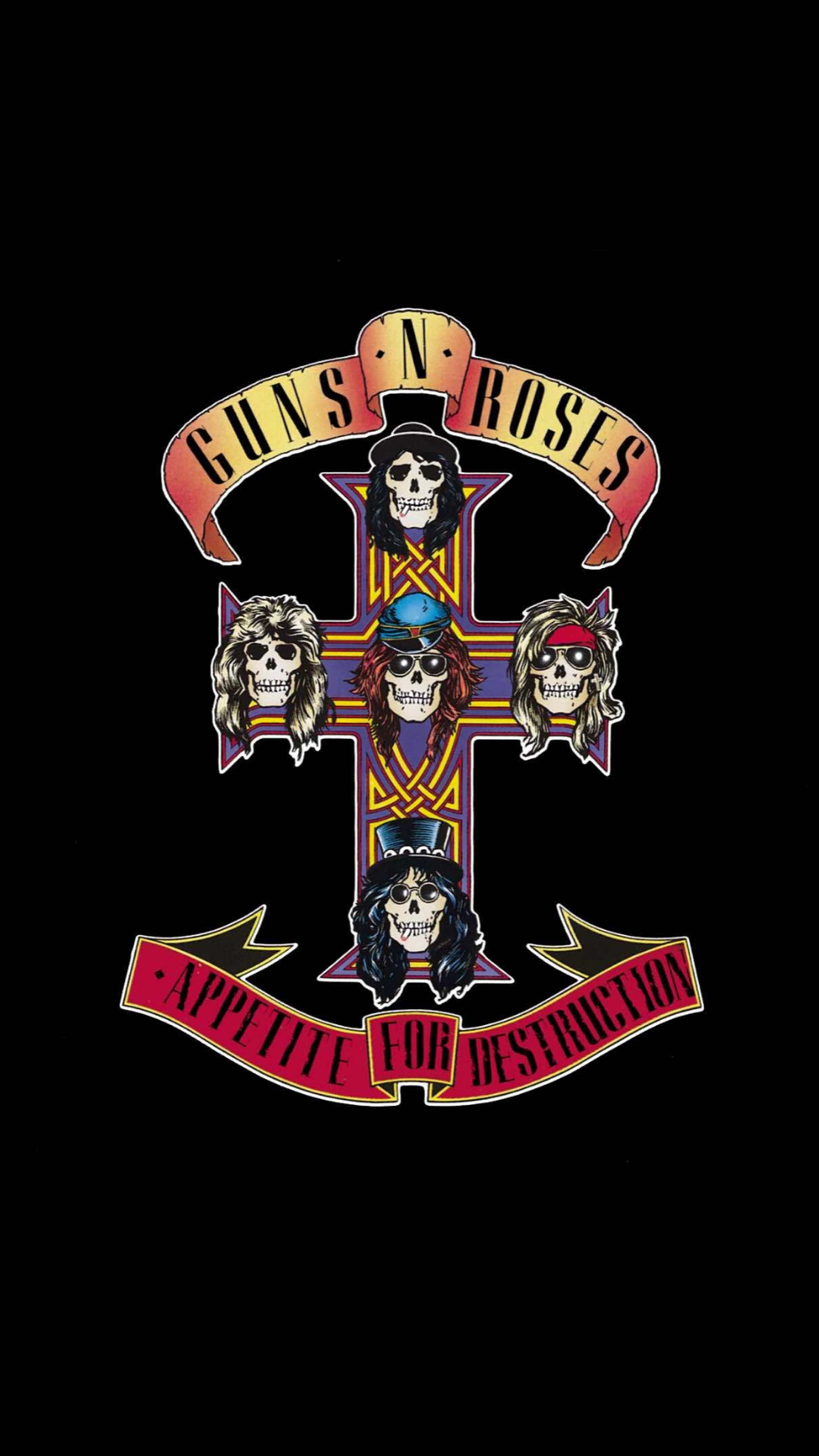 Guns N' Roses Logo Free 4K Ultra HD Mobile Wallpaper