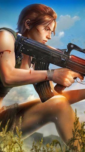 PUBG Girl With Augusta Gun 4K Ultra HD Mobile Wallpaper