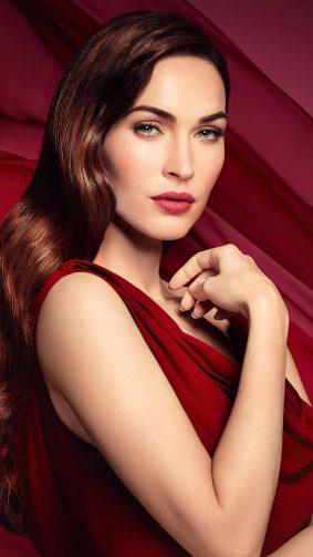 Gorgeous Megan Fox In Red Dress 4K Ultra HD Mobile Wallpaper