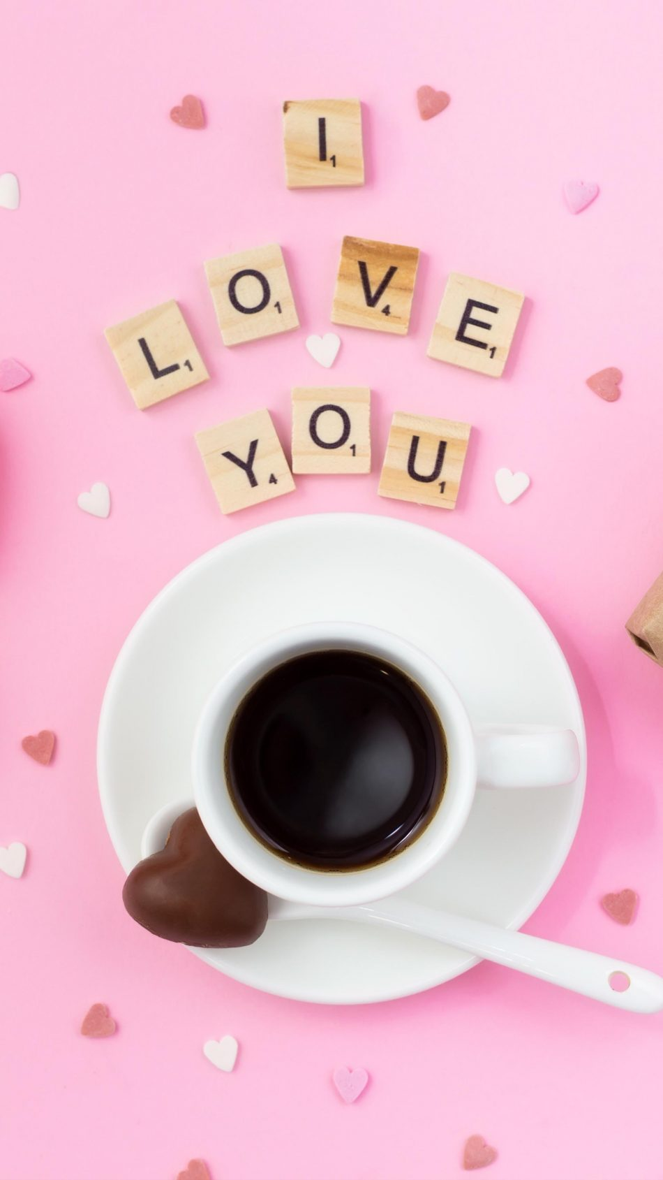 I Love You Coffee Cup 4K Ultra HD Mobile Wallpaper