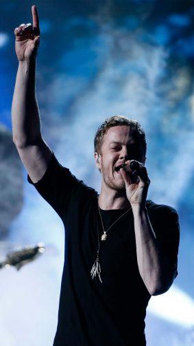Imagine Dragons Singer Dan Reynolds Performing Live 4K Ultra HD Mobile Wallpaper