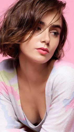 Lily Collins Short Hair 2020 4K Ultra HD Mobile Wallpaper