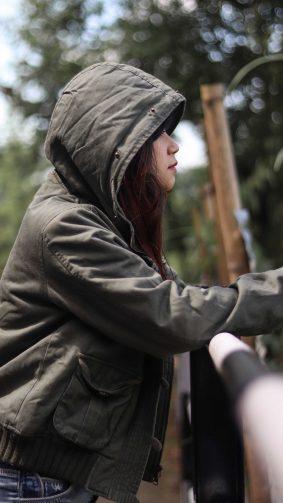 Girl Wearing Hoodie Portrait 4K Ultra HD Mobile Wallpaper