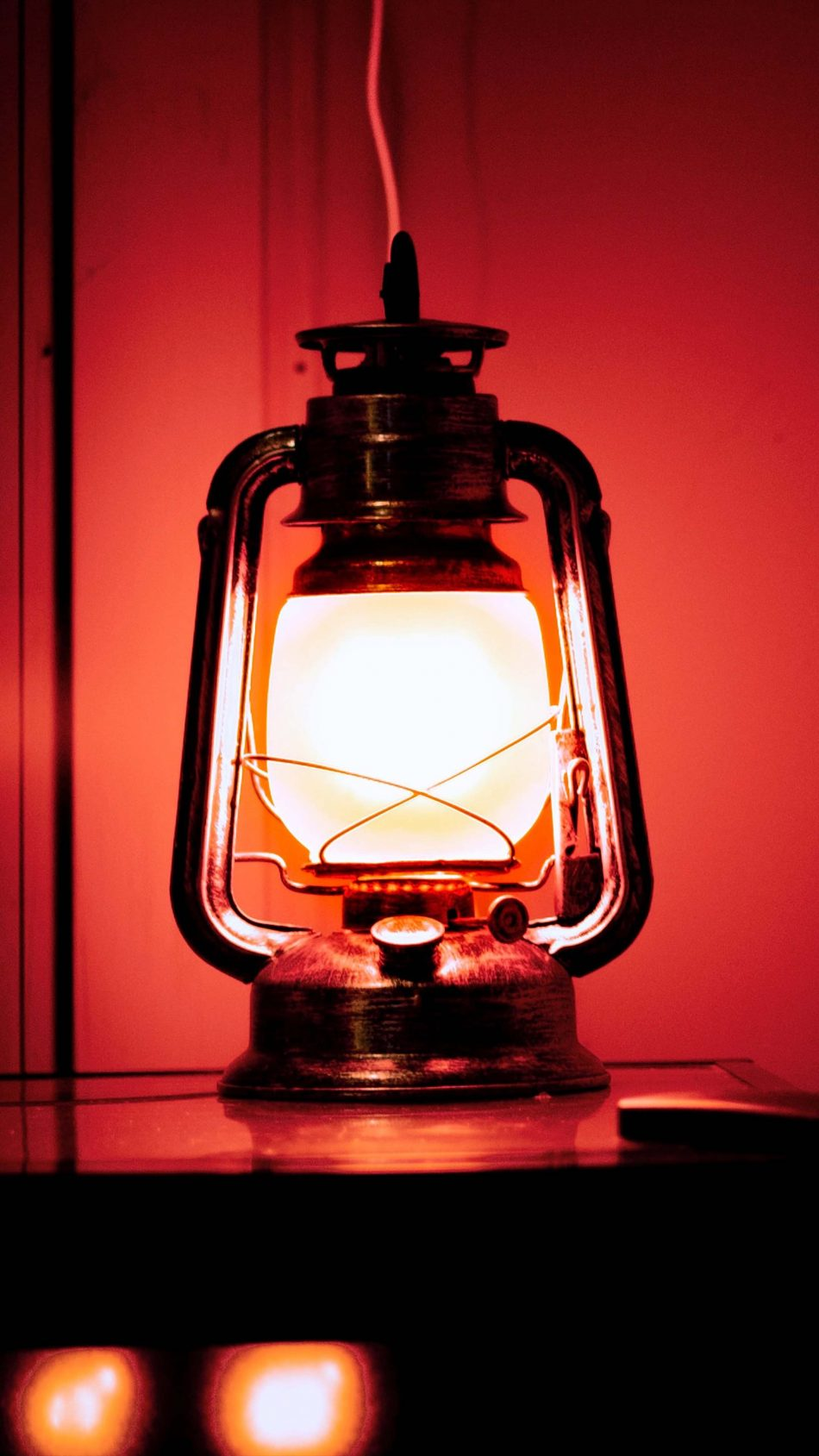 Lantern Red Light Dark 4K Ultra HD Mobile Wallpaper
