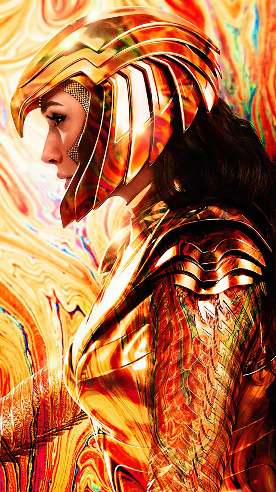 Gal Gadot Golden Armor Eagle Wonder Woman 1984 4K Ultra HD Mobile Wallpaper
