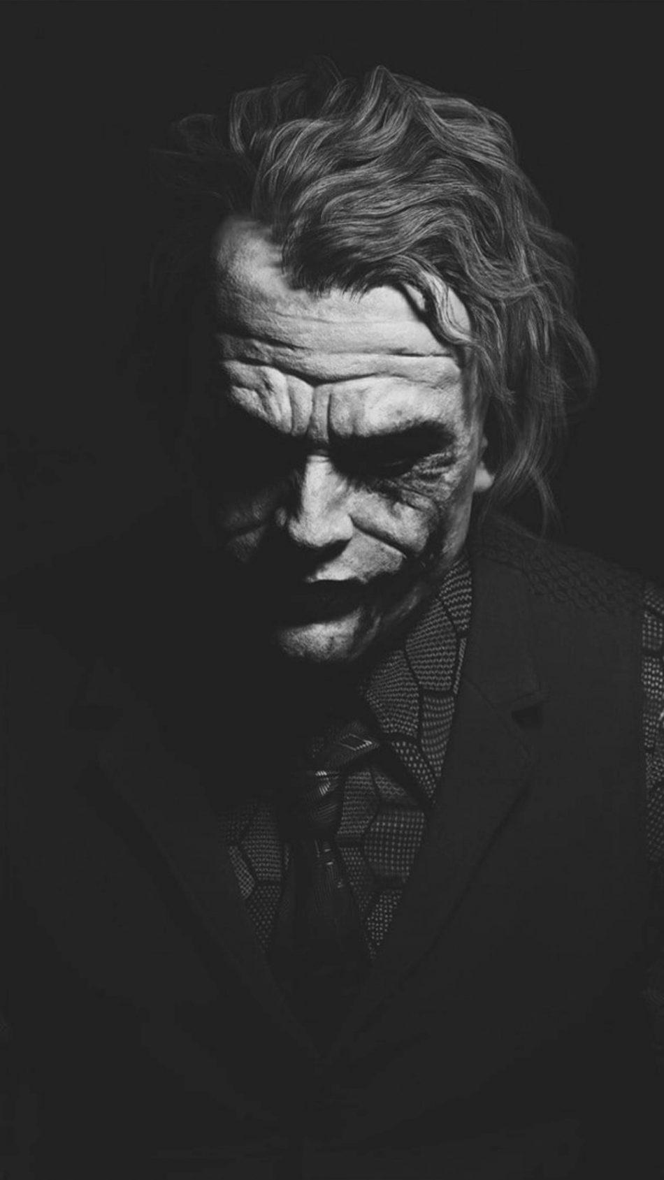 Heath Ledger Joker Black & White Artwork 4K Ultra HD ...
