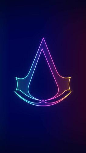 Assassin's Creed Valhalla Neo Logo 4K Ultra HD Mobile Wallpaper