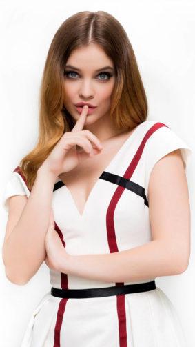Barbara Palvin White Dress Background 4K Ultra HD Mobile Wallpaper