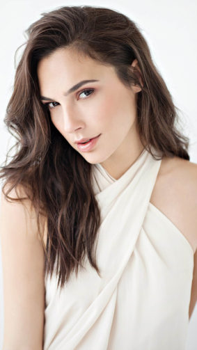 Beautiful Israeli Actress Gal Gadot White Dress 4K Ultra HD Mobile Wallpaper