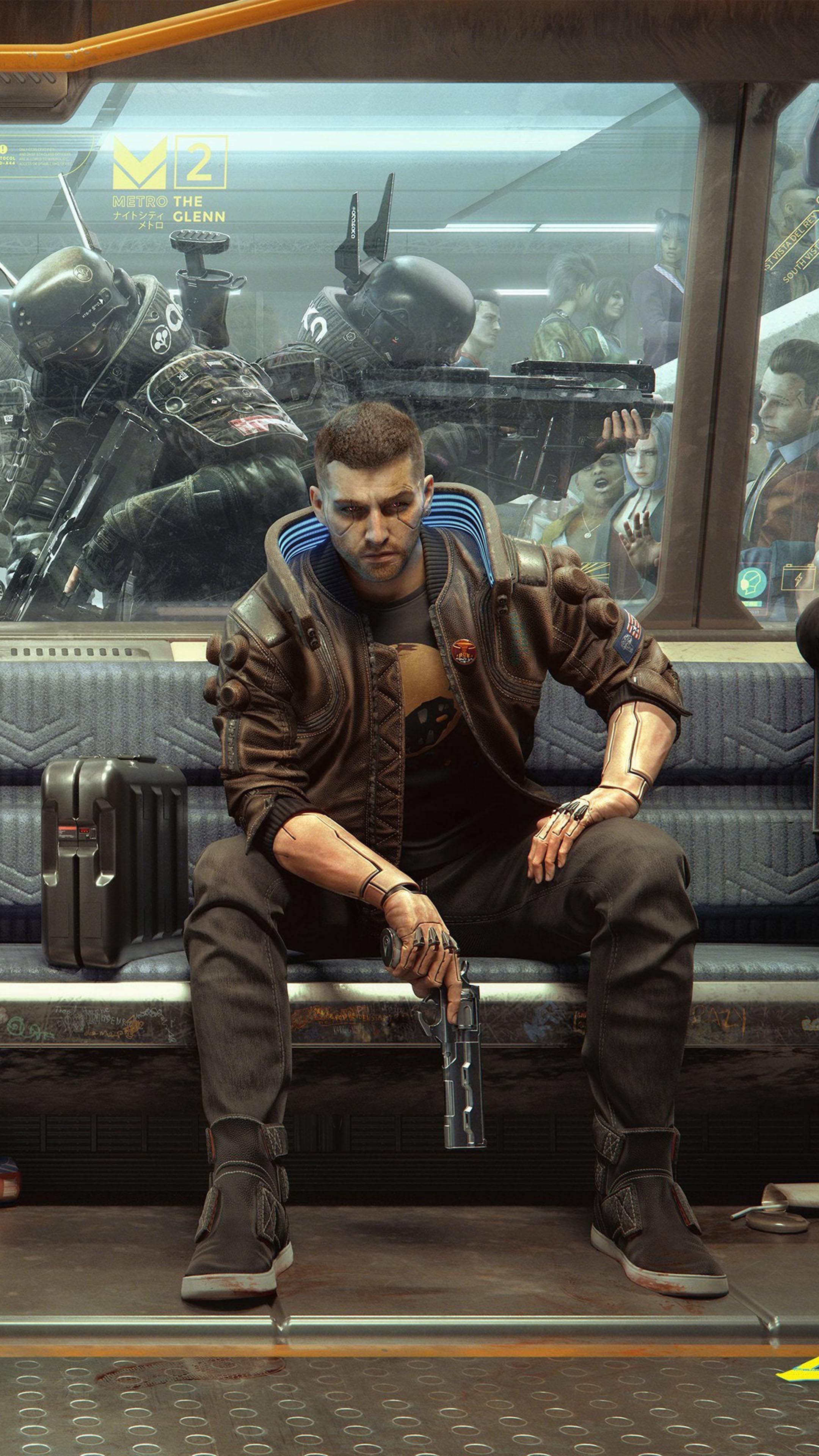 Cyberpunk 2077 Metro Soldiers 4k Ultra Hd Mobile Wallpaper