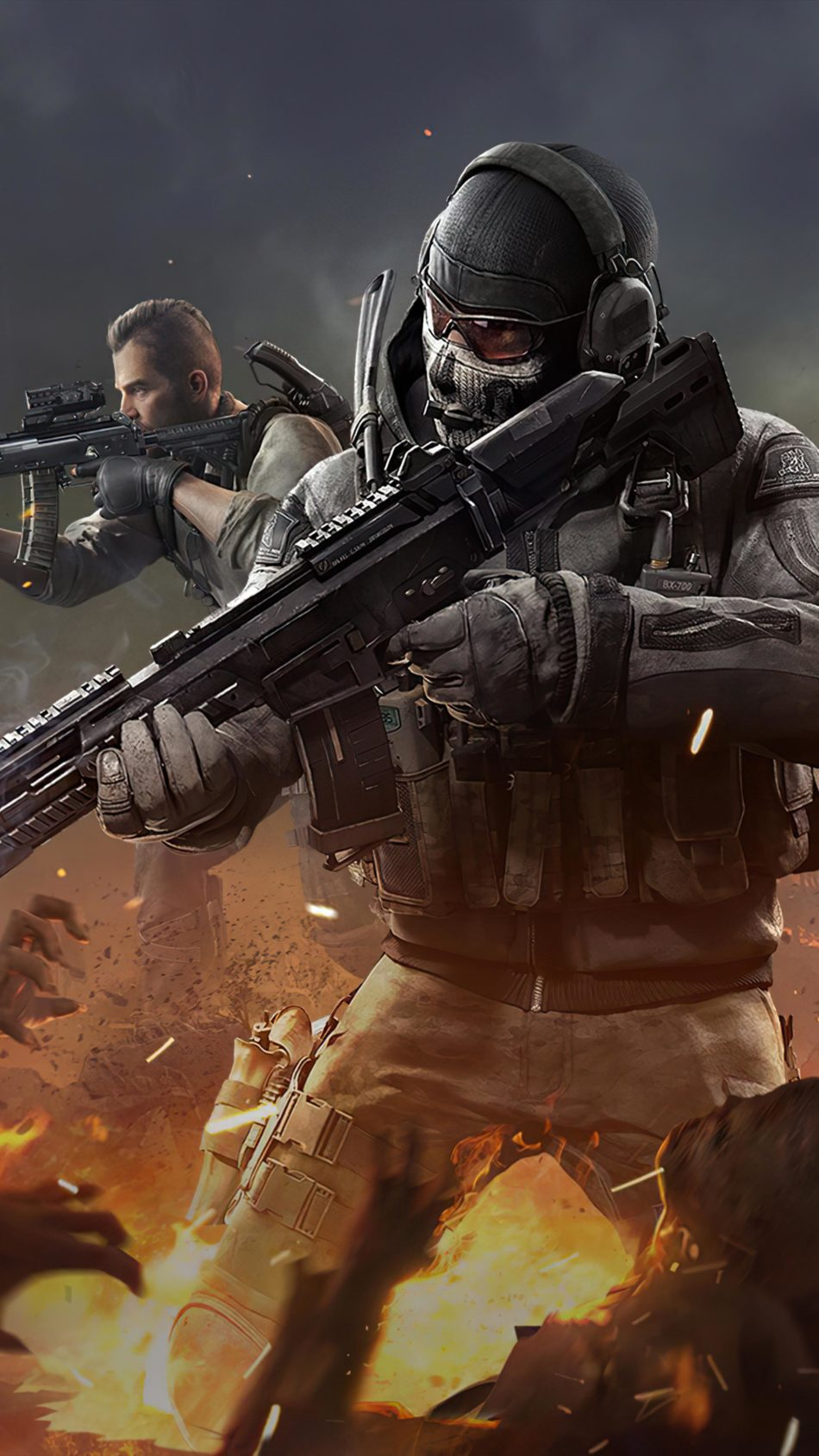 Ghost Player Call Of Duty Mobile 4k Ultra Hd Mobile Wallpaper