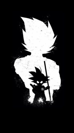Goku Dark Black Minimal 4K Ultra HD Mobile Wallpaper