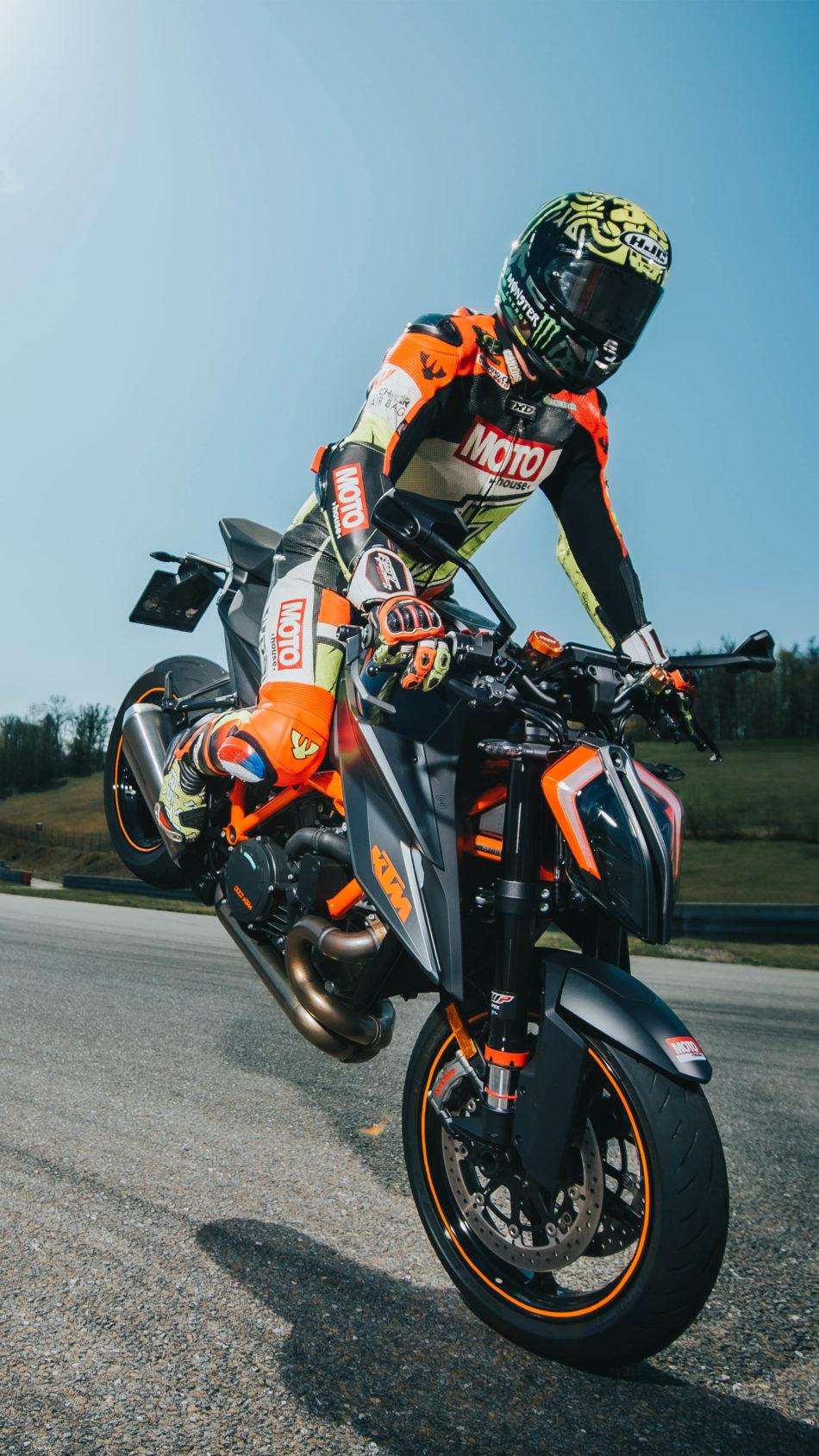 KTM Bilke Stunt Stoppie 4K Ultra HD Mobile Wallpaper