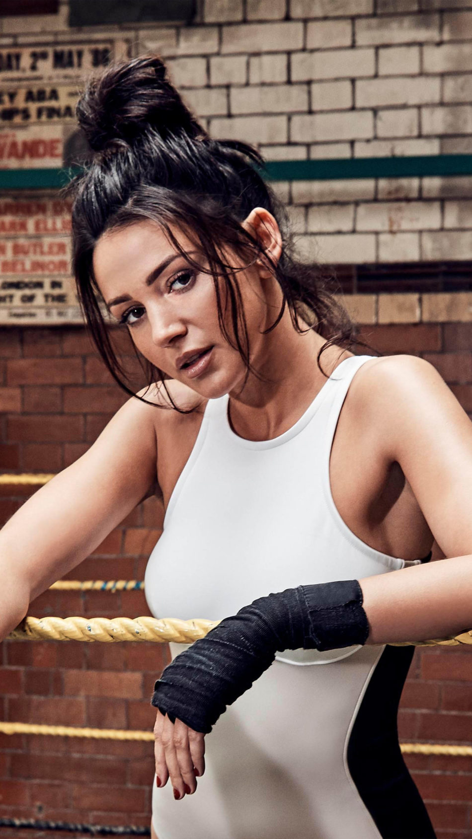Michelle Keegan Fitness Fighting Ring 4K Ultra HD Mobile Wallpaper