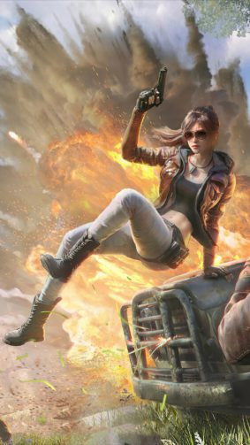 PUBG Girl Explosion 4K Ultra HD Mobile Wallpaper