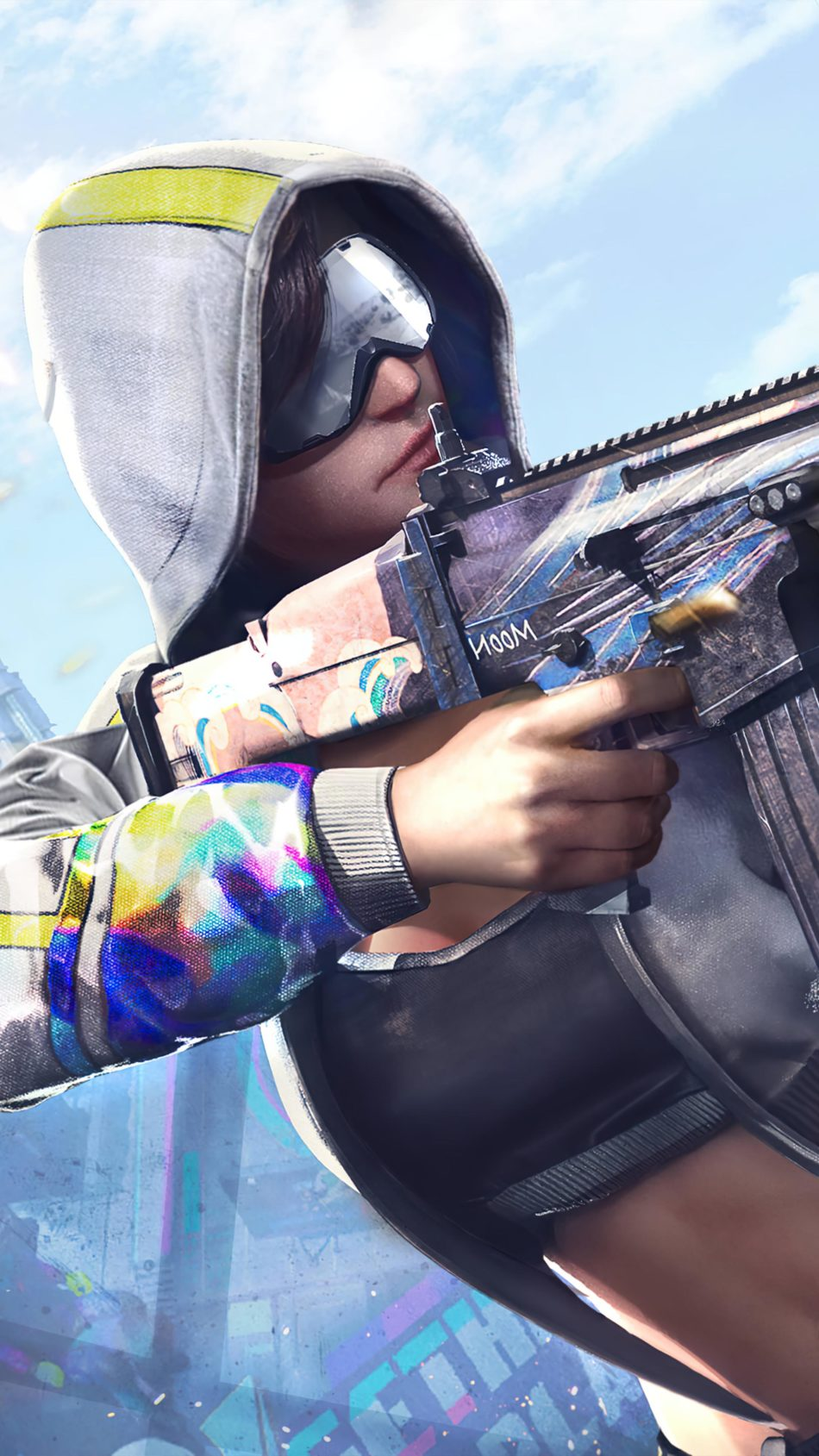 PUBG Girl Hoodie Gun 4K Ultra HD Mobile Wallpaper