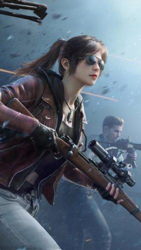 PUBG Girl Sniper With Squad 4K Ultra HD Mobile Wallpaper