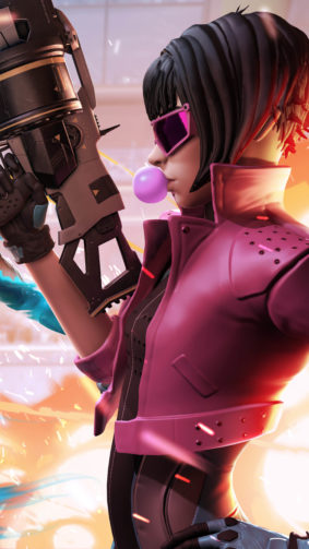 Quantum League Girl Gun Bubble Gum 4K Ultra HD Mobile Wallpaper