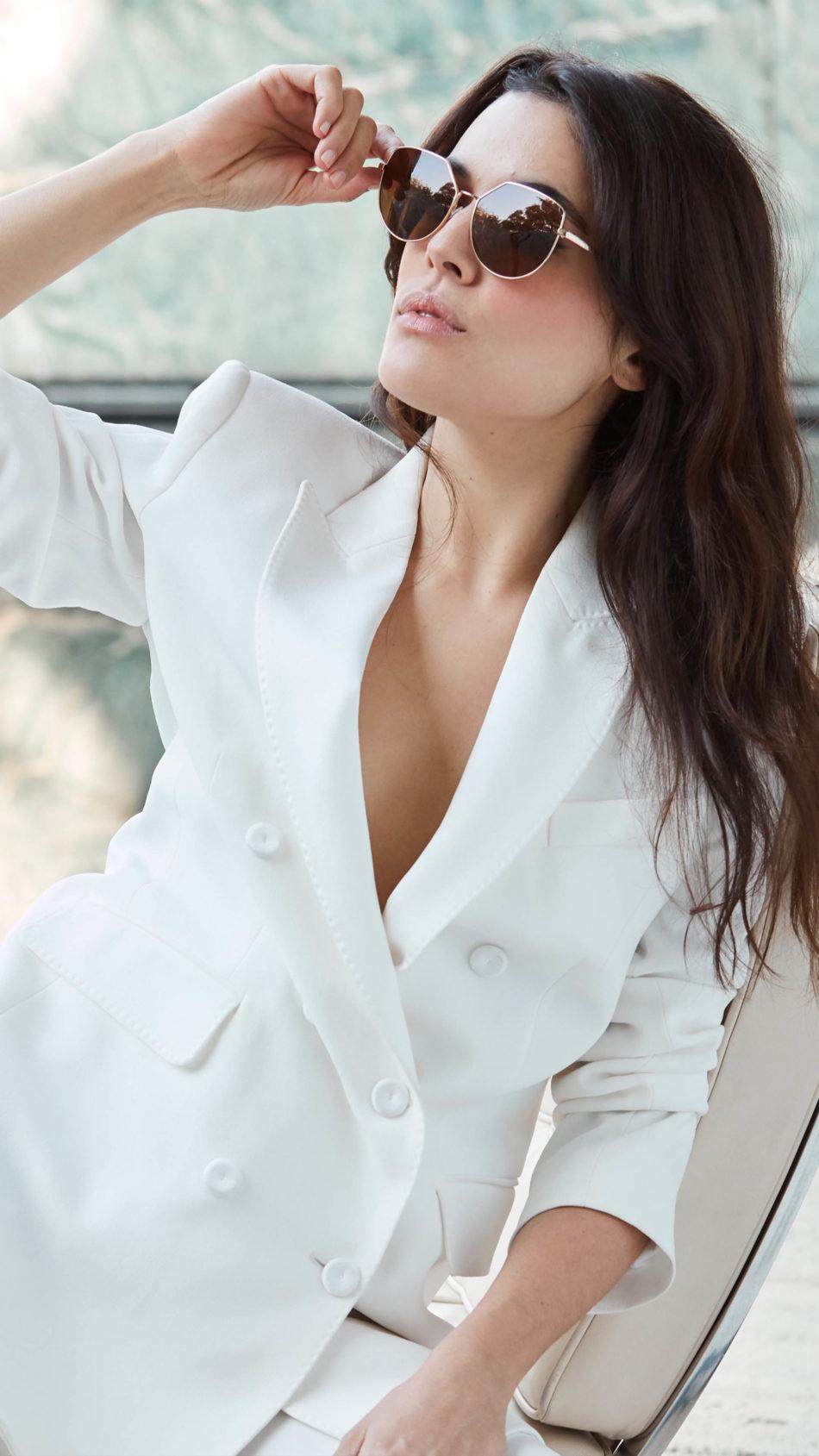 Adriana Ugarte White Dress Photoshoot 4K Ultra HD Mobile Wallpaper
