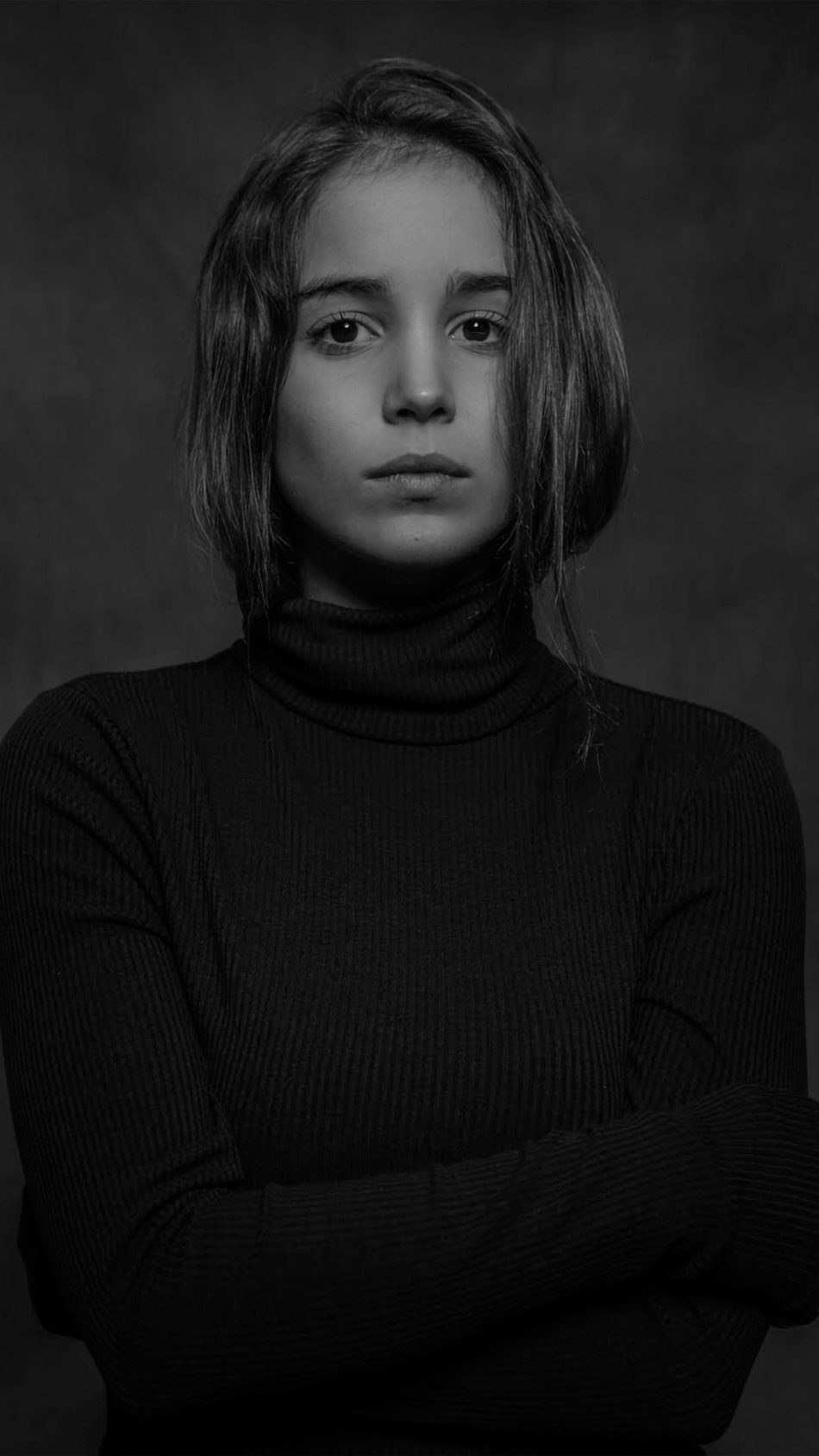 Alba Baptista Monochrome Photoshoot 4K Ultra HD Mobile Wallpaper