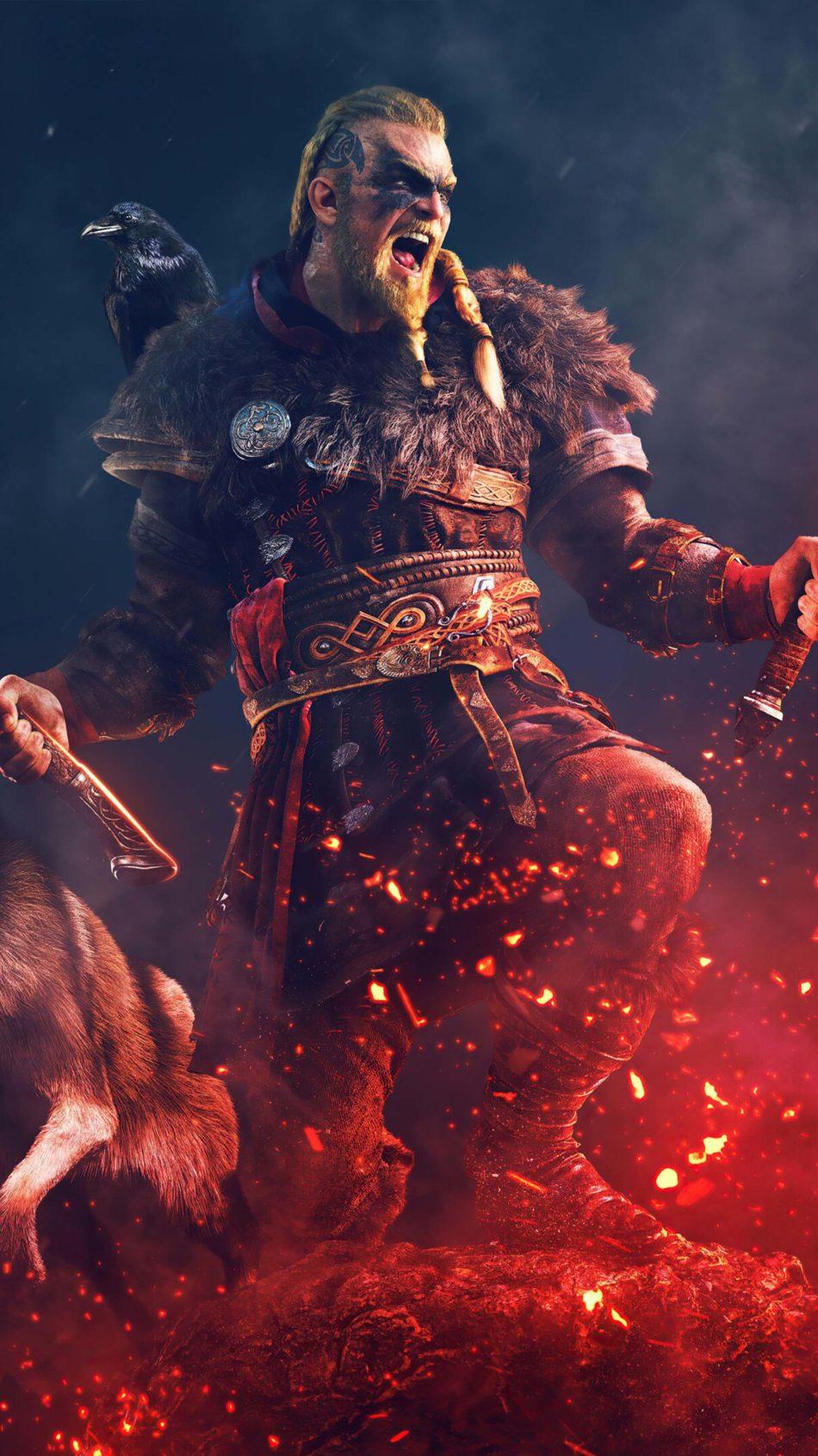 Assassin's Creed Valhalla Artwork 4K Ultra HD Mobile Wallpaper