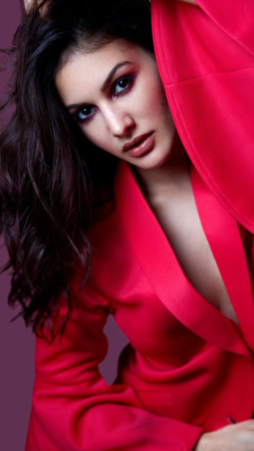 Beautiful Amyra Dastur In Red Dress 4K Ultra HD Mobile Wallpaper