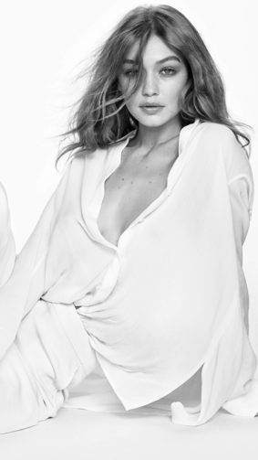 Gigi Hadid Black & White Photoshoot 4K Ultra HD Mobile Wallpaper