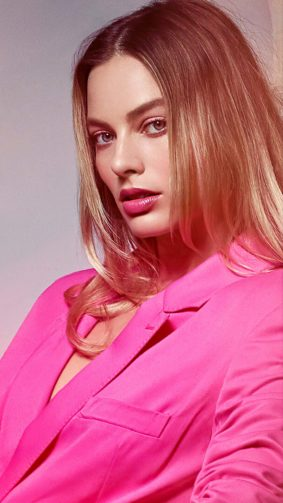Margot Robbie In Pink Dress 2020 4K Ultra HD Mobile Wallpaper