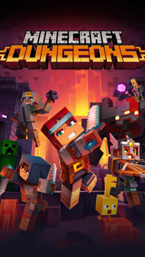 Minecraft Dungeons Game Poster 4K Ultra HD Mobile Wallpaper