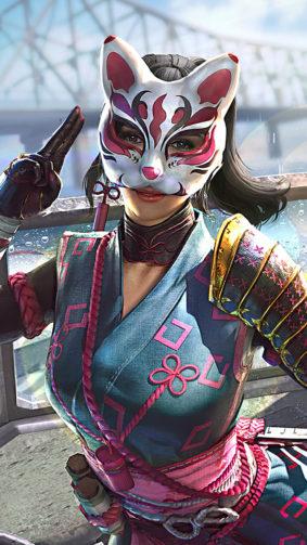 PUBG Girl Cat Mask 4K Ultra HD Mobile Wallpaper