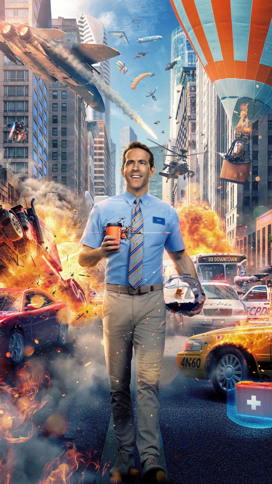 Ryan Reynolds In Free Guy 2020 4K Ultra HD Mobile Wallpaper