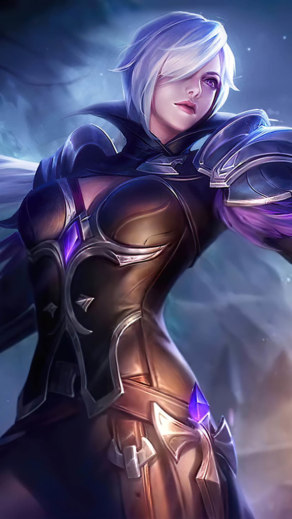 Silvanna Midnight Justice Mobile Legends 4K Ultra HD Mobile Wallpaper