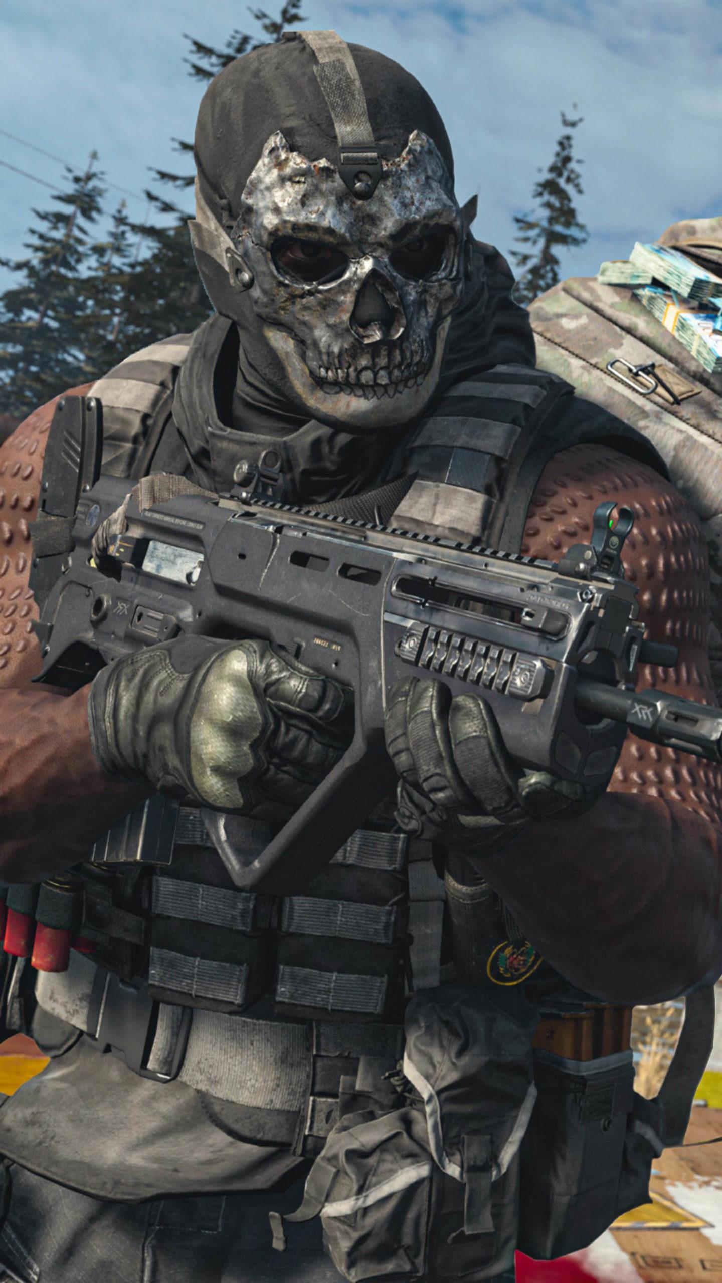 Skull Mask Call Of Duty Warzone 4k Ultra Hd Mobile Wallpaper
