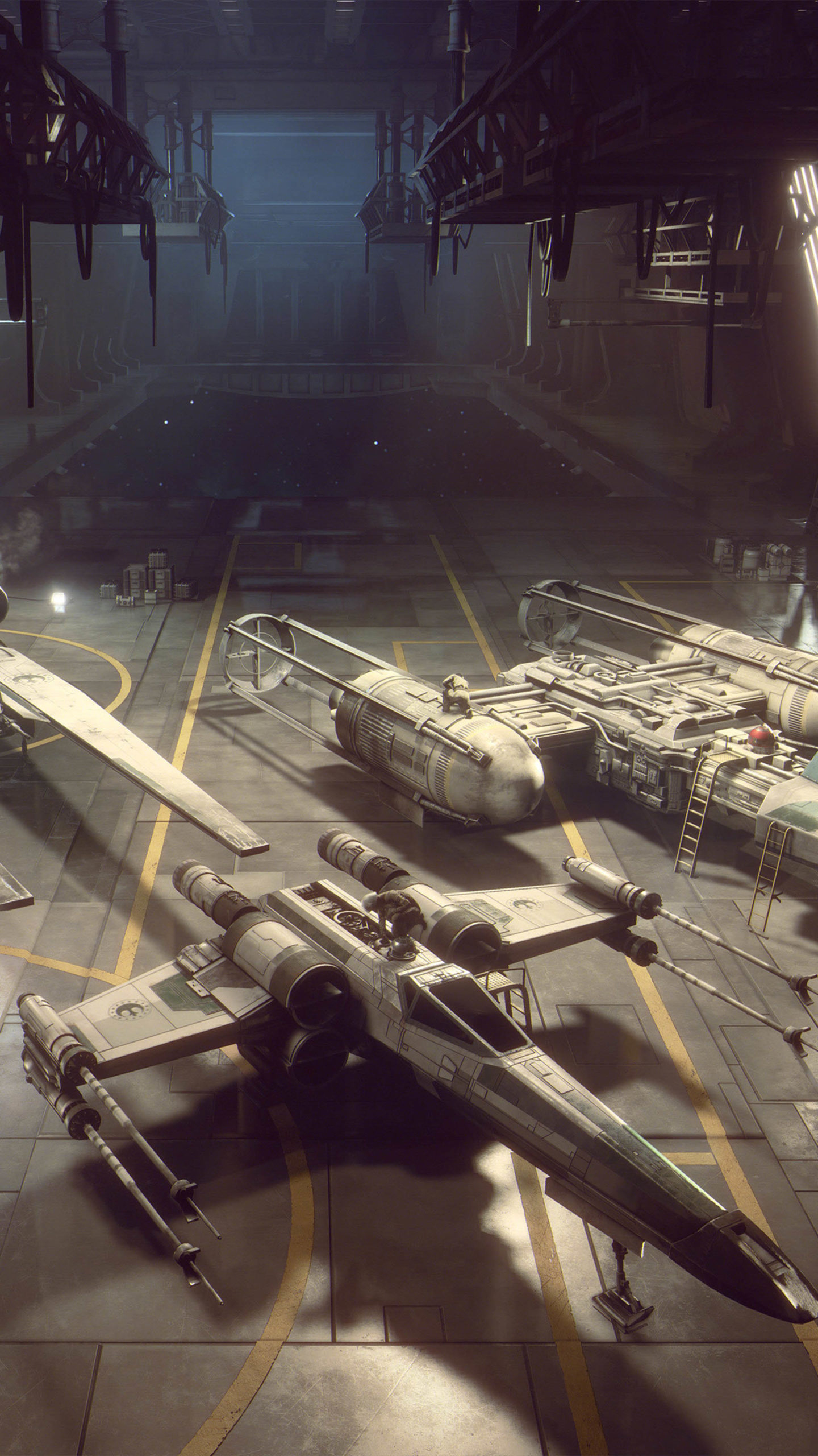 Spaceships Star Wars Squadrons 4K Ultra HD Mobile Wallpaper scaled